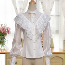 Sweet lolita long sleeves high collar vintage blouse /shirt