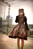 *Neverland* Steam punk cat Normal waist triple-breasted dress