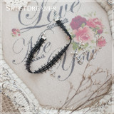 Sweetdreamer Dark black fantasy water diamond cross Lolita necklace suit
