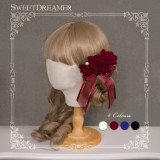 Sweetdreamer Vintage Rose Pearl bow Lolita hair comb brooch