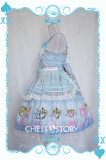 ChessStory~Alice's Mad Tea Party collection print lolita JSK dress version Ⅱ