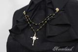 *Neverland*Night Carol Lolita sharp collar with Pearl chain long-sleeved shirt pre-order