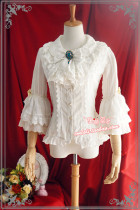 Strawberry Witch~Custom Size Available Lucy under the morning star silver striped lolita shirt