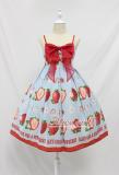 Alice girl~soft sweet big strawberry bow~Lolita Jsk Sling dress pre-order