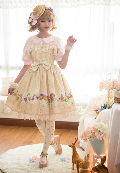 ChessStory~Little daisies and dandelion print lolita dress version Ⅱ JSK dress