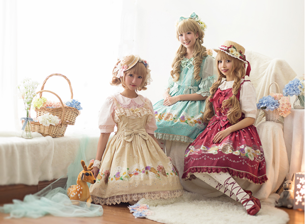 ChessStory~Little daisies and dandelion print lolita dress versionⅠ jsk dress