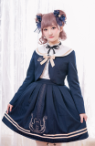 Magic music shool ~Viola Embroidery Academy Wind Coat + Half Skirt