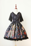 *Neverland*Pick flowers girl Mini lolita chiffon splicing dresspre-order