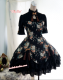 Strawberry Witch~Custom Size Available Chinses lolita style Peony Printed Qi OP dress