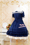 Strawberry Witch~Custom Size available Sailor Collar Short Sleeves OP dress