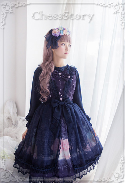 ChessStory~Peachblossom And Snow series versionⅠlolita JSK dress