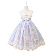 Alice girl~Angel print bow knot lace lolita jsk dress pre-order