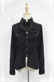 *Neverland*Night Carol Lolita sharp collar with Pearl chain long-sleeved shirt pre-order