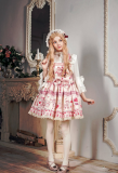 *Neverland*Cherry & deer 2018 sweet lovely lolita printing braces dress pre-order