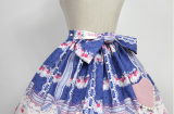 *Neverland*Cherry & deer 2018 sweet lovely lolita printing high waist skirt pre-order