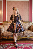 *Neverland*Pick flowers girl Mini lolita chiffon splicing dresspre-order