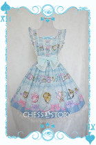 ChessStory~Alice's Mad Tea Party collection print lolita JSK dress version Ⅰ