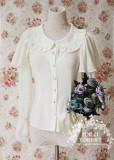 MILU FOREST~Matcha Dessert ~sweet lolita chiffon blouse