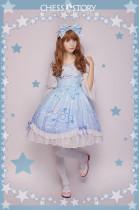 ChessStory~Dreamy Starry Night series print lolita JSK dress