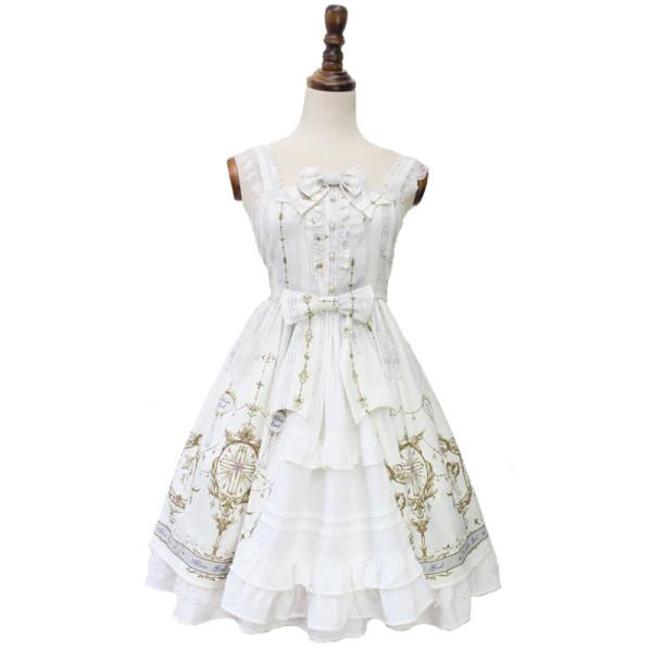 Alice girl~Angel Cross print sweet lolita jsk dress