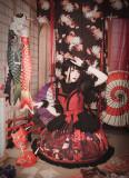 MILU FOREST~Sacrifice to Red Leaves~print Gothic Lolita JSK dress