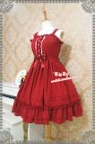 Strawberry Witch~Candy chiffon dress ice cream puffs JSK dress
