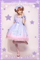ChessStory~Dreamy Starry Night series print short sleeve lolita op dress
