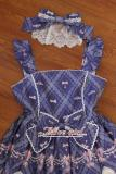 Alice girl~Cat Crown Chain print sweet lolita jsk dress