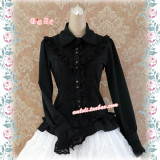 Strawberry Witch~Custom Size Available silk linen doll collar sweet lolita blouses