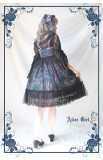 Alice girl~Chandelier print lace Lotus leaf jsk Sling dress version Ⅱ pre-order