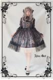 Alice girl~Chandelier print lace Lotus leaf jsk Sling dress version Ⅱ pre-order