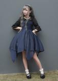 *Neverland*Dark Night Spectre Gothic style chiffon Irregular skirt trimp JSK dress