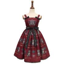Alice girl~owl print Sling dress pre-order