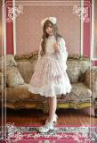 *Neverland*Antique clock Sweet lolita Slanting Cake chiffon normal waist skirt pre-order