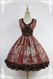 *Neverland*Steam punk cat high wasit sleeveless lolita dress pre-order