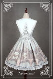 *Neverland*Time and space guardians fake collar two-piece lolita dress