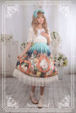 *Neverland*The courtyard cat print normal waist lolita skirt