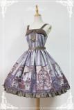 *Neverland*Steam punk cat Peter Pan Collar with bow tie lolita jsk dress