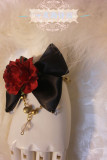 【Night Tales】Gothic style black red rose lolita bracelet
