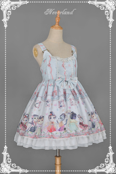 *Neverland*Chinese Walking Cat Strap Jumperskirt