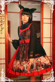 *Neverland*Hyakki Yagyō -The nine-tailed fox jpfashion open front jsk dress