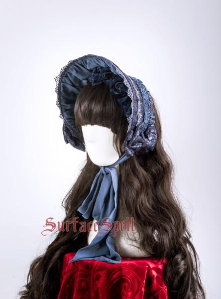 SurfaceSpell ~Rosary print Gothic Lolita bonnet