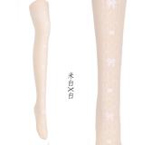 【MuFish】Maiden Lace Print 120D Velvet Lolita Tights