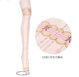 【MuFish】Bear Biscuit Bow Print 120D Velvet Lolita Tights