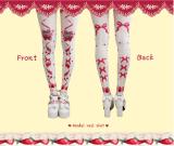 【MuFish】Stawberry Season Velvet Print Lolita Tights