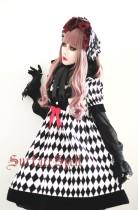 SurfaceSpell ~Rhombic splicing  high waist gothic doll op dress