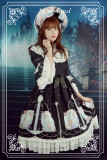 *Neverland*Starry sky  verseau  removable sleeve stand collar lolita op dress