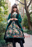 Surface spell~Winter rose garden False Two Pieces Lolita JSK dress