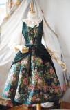 Surface spell~Winter rose garden False Two Pieces Lolita JSK dress