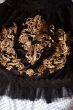 Surface spell~Judgement day Gothic embroidered velveteen high waist Skirt